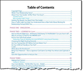 girl gets ring table of contents